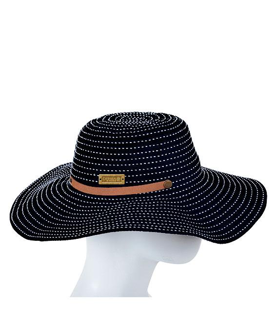 Sombrero Dama Mónaco Negro